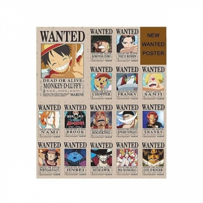 One Piece Wanted Posters + Gift Card