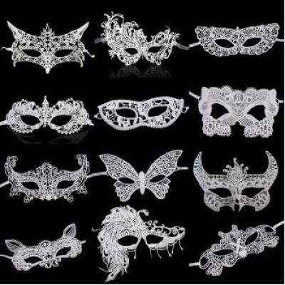 Mask white lace