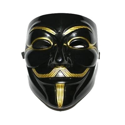Gold anonymous joker mask
