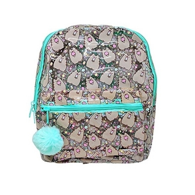 Pusheen Character All Over Popsicle Print PVC Mini Backpack