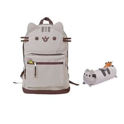 Pusheen Cat Face Backpack and Accessory Case Set 2
