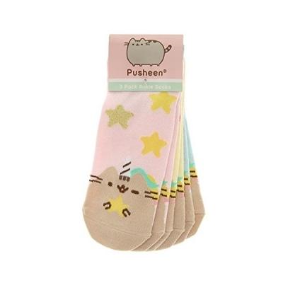 Girl's Pusheen Unicorn Pastel Ankle Socks