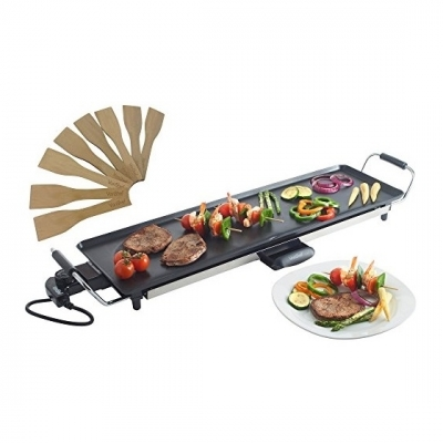 VonShef Electric XL Teppanyaki Style Barbecue Table Grill Griddle