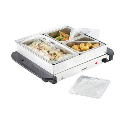 VonShef 3 Tray Food Warmer Buffet Server