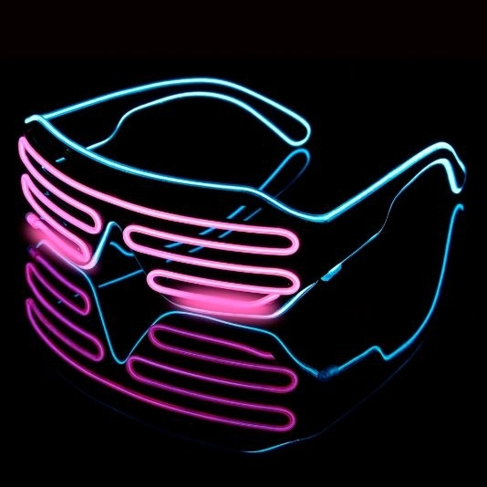 Lighting 2 colors Glasses LED