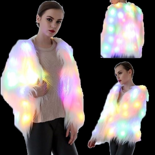 Lighting Fur Coat LED