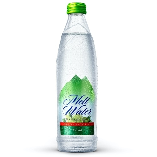330ml - Glass Sparkling Water Lime Flavor