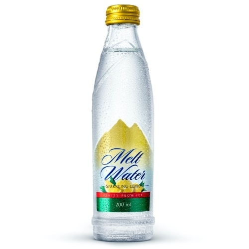200ml - Glass Sparkling Water Lemon Flavor