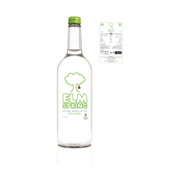 750ml - Glass Sparkling Water